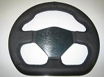 D shaped leather steering wheel