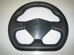 NEW!! D shaped carbon fiber wrapped steering wheel
