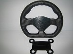 D shaped carbon fiber wrapped wheel with 4 button mount